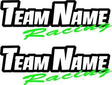 CUSTOM RACING DECALS motorcycle atv team name race graphics stickers motocross