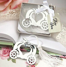 CINDERELLA BOOKMARK Pumpkin Carriage Love Heart Birthday Bridal Silver Box Gift