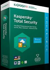KASPERSKY TOTAL SECURITY 2017- 5 Devices 1 Year - Electronic Download - GENUINE