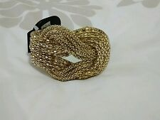 "Topshop ""Freedom"" Gold Looped Snake Chain Premium Statement Bracelet BNWT"