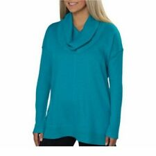 NEW Marc New York Andrew Marc Women's Fleece Cowl Neck Tunic Azure S