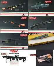 Set of 8 1/6 Scale Weapon MG42 QBZ95 AK47 M16A4 M82A1 M14ER DSR1 M134 Toys B&G