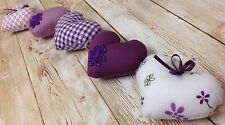 HANDMADE SHABBY CHIC COUNTRY STYLE HANGING HEARTS GARLAND BUNTING PURPLE