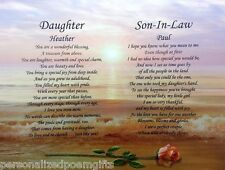 DAUGHTER & SON-IN-LAW PERSONALIZED POEM WEDDING GIFT OR CHRISTMAS PRESENT