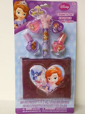 DISNEY PRINCESS SOFIA THE FIRST NAIL & LIP COSMETIC GIFT SET w MAKEUP CARRY CASE
