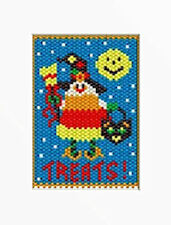 Candy Corn Girl Pony Bead Banner Pattern