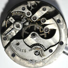 W262# ANTIQUE KEY WIND LONGINES PATENTED CLICK POCKET WATCH MOVEMENT