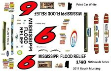 #6 Ricky Stenhouse jr Mississippi Flood Relief 2011 1/43rd Scale Slot Car Decals