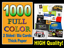 LOOK 1000 FULL COLOR Double Sided Custom Business Cards UV Gloss plus FREE S&H!!