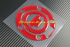 For YAMAHA FZ1 FZ6 FZ8 R1 R6 Red Carbon Fiber Protector Fuel Gas Cap Cover Decal