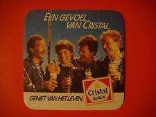 Beer Pub Coaster: Cristal Alken  *  Eens Gevoel Van Crista l  *  BELGIUM Brewery
