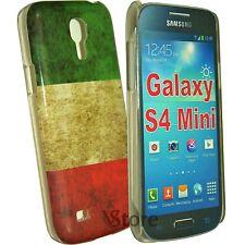 Cover Custodia Per Samsung Galaxy S4 Mini i9195 Bandiera Italia + Pellicola