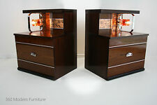 Mid Century Modern Bedside Tables Lamps Lights Drawers Retro Vintage 70s 80s