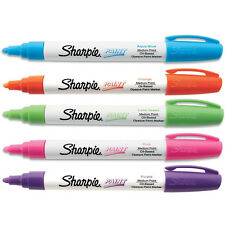 Sharpie Oil-Based Paint Markers, Medium Point Assorted Fashion Colors, Pack of 5