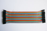 40Stk Dupont Wire Jumper Cable 20 cm Spacing 2.54  1P-1P Male To Female Neu