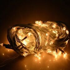 (Big Size-Set of 8-W) 30FT White Rice lights Diwali Home decoration LED Light