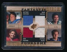 MATTHEW STAFFORD MCGEE SANCHEZ FREEMAN 2009 SPX FANTASTIC FOURSOME RC JERSEY 1/5