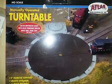 Atlas 302 HO-Scale Brass Train Turntable Manually Operated 11 Positions Open Box