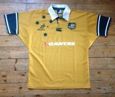 "AUSTRALIA ""THE WALLABIES"" QANTAS - VINTAGE RUGBY UNION SHIRT EXTRA LARGE / XL"