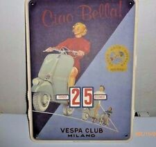 Vespa Scooter Club of Milan Perpetual Calendar Cog Made in Italy Ciao Bella!