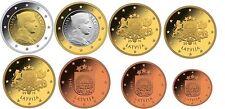 SERIE COMPLETE 1 Cent à 2 Euro Lettonie  2014 NEUVE COMPLETE, 8 pièces