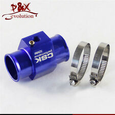 "32MM 1.26"" Water Temp Gauge Radiator Sensor Adaptor Attachment Aluminum blue"