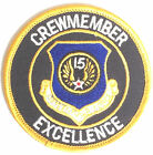 U.S.A.F. 15th Air Force Crewmember Military Embroidered Patch MOD Approved