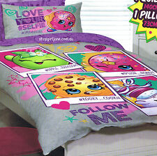 Shopkins - Love Your Selfie - Single/US Twin Bed Quilt Doona Duvet Cover set