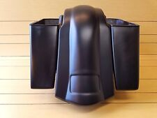 "4""STRETCHED SADDLEBAGS NO CUT OUTS AND REAR FENDER FOR TOURING BAGGERS 96-2013"