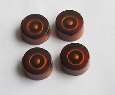 4x Amber LP Guitar Control Knobs Speed Knobs Dial Knobs for Les Paul