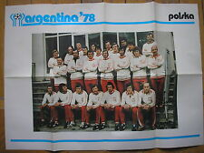 ARGENTINA 78 ALBUM COGED POSTER POLSKA POLAND POLONIA WORLD CUP 1978 FOOTBALL