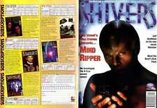SHIVERS MAGAZINE #17 WES CRAVEN MIND RIPPER, DAVID NAUGHTON, TOM PICCIN, GOBLINS