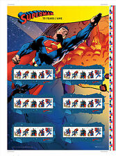 75th Anniversary of Superman Commemorative Stamps - Uncut Press Sheets [NEW]
