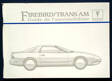 Owner's Manual * Betriebsanleitung 1995 Pontiac Firebird  Trans Am  (F)
