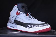 NIKE AIR JORDAN SPIZIKE GS WOLF GREY GYM RED BLACK 317321 013 SZ 6 Y