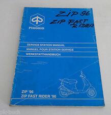Werkstatthandbuch Workshop Manual Piaggio Roller Zip / Fast Rider 50ccm ab 1996