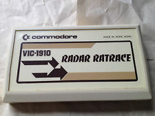 RADAR RAT RACE Video Game Cartridge  Commodore VIC-20 VIC-1910 vintage