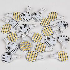 20x WARM WHITE 12V LED Bulbs FOR FIXTURE DOUBLE DOME CAMPER TRAILER MARINE LIGHT