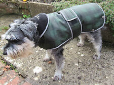 ANCOL MUDDY PAWS MOORLAND GREEN ALL WEATHER DOG COAT X-LARGE REFLECTIVE EDGES