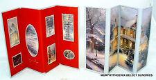 Lot of 2 Thomas Kinkade Victorian Christmas Folding Frame Holds 7 Photos NIP