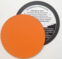 magnetic tax disc holder ORANGE carbon fibre Fits ford volkswagen vw vauxhall gt