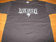 "WRONG ""Memories of Sorrow"" T - SHIRT  L  lifelover forgotten tomb"