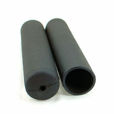 """2x Black Hand Grip Handle to fit 1"""" inch Bars Home Gym Round Sleeve 5"""" Long 25mm"""