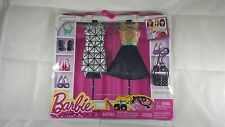 Mattel Barbie 2015 Fashionista 2 Look Outfit Clothing Gold & Silver Dresses NIP