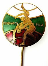 FILA World Wrestling Championship Sofia/ Bulgaria 1971 Official Enamel Lapel Pin