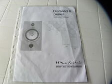 Wharfedale Diamond 8 Series Owner's Manual  Operating Instructions