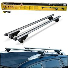 M-Way 135cm Aerodynamic Lockable Aluminium Roof Rack Rail Bars to fit VW Sharan