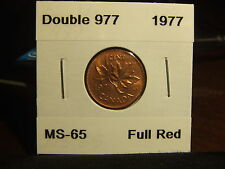CANADA ONE CENT 1977 Double 977 !!!!! MS-+++++ !!!!! Full Red
