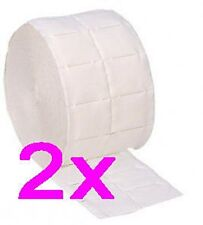 2 x Koi Roll Lint Free Wipes Towels False Nail Acrylic Gel Nails Cellulose Pads