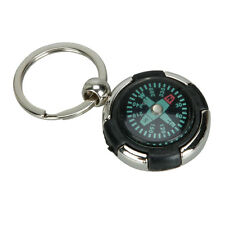 Mini Keychain Ring Precise Compass Metal PC Accurate Compact Outdoor Hiking Hot